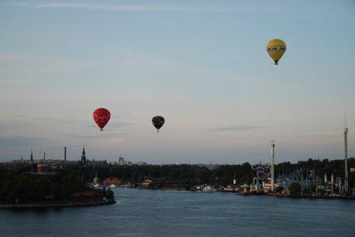 Baloane peste insulele Skepps-Holmen si Djurgarden