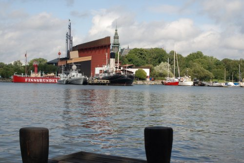 Vedere spre Djurgarden - muzeul Vasa